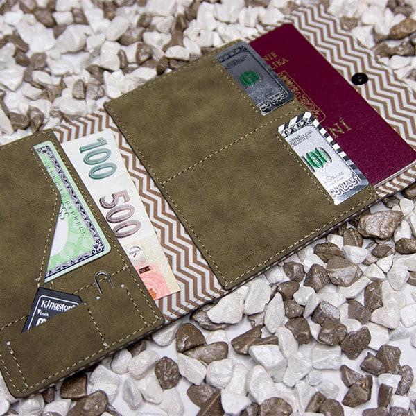 Cestovní peněženka Xpress hnědá
