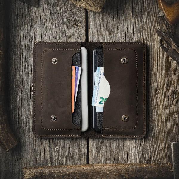 otevřená peněženka na iphone a doklady