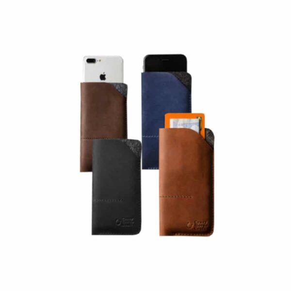 Peněženka / kožené pouzdro pro iPhone a Samsung
