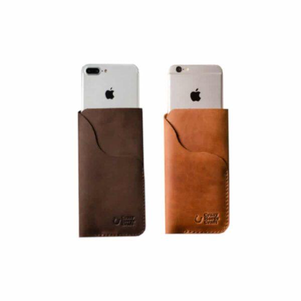 Kožené pouzdro / peněženka na iPhone