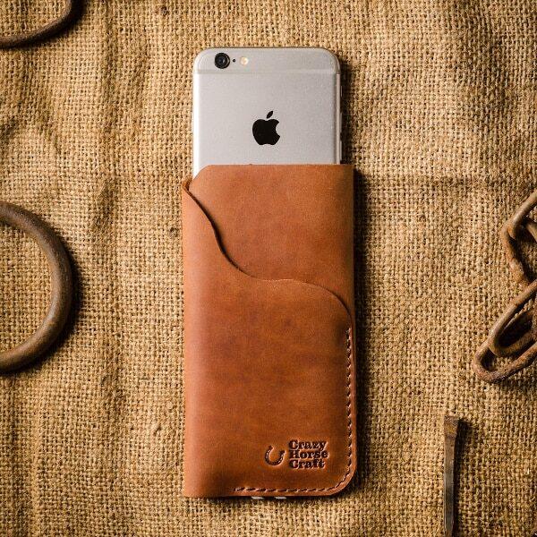 iphone hnědá peněženka