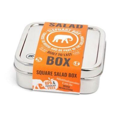 Nerezová krabička na salát s logem Elephant Box
