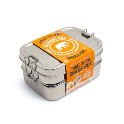 Nerezový lunchbox 3v1
