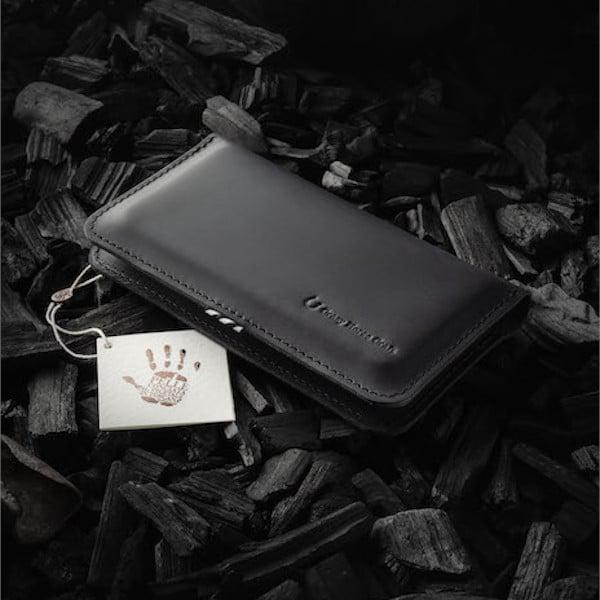 ručně šité kožené pouzdro na iphone a peníze