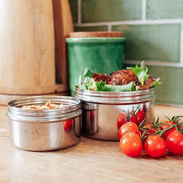 kvalitné nerezové plechovky na svačiny a oběd