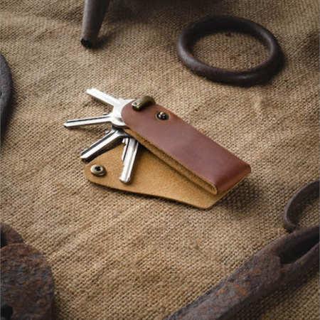 kožená klíčenka na klíče