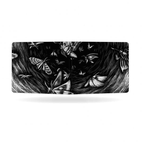 zadní strana papírové peněženky Butterfly Effect