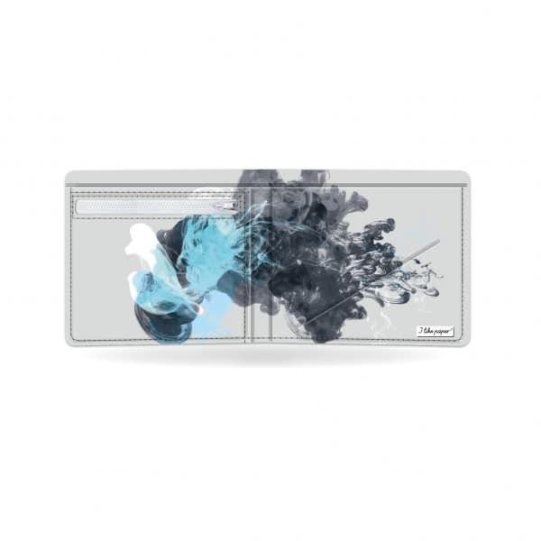 Papírová peněženka Jellyfish otevřená a prázdná