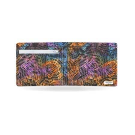 Papírová peněženka Půlnoční kresba otevřená prázdná