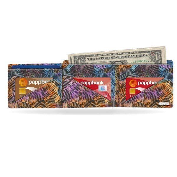 Papírová peněženka Půlnoční kresba na peníze a na karty