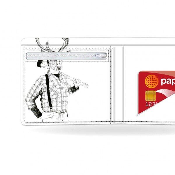 Papírová peněženka Mr. Deer detail