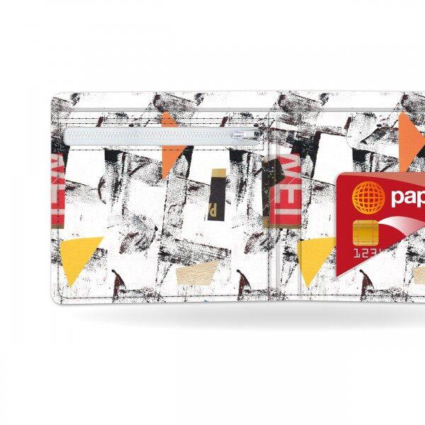 Papírová peněženka Síť detail
