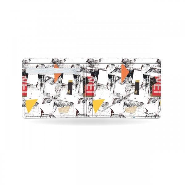 Papírová peněženka Síť otevřená a prázdná