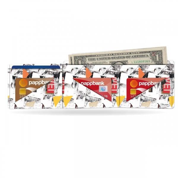 Papírová peněženka Síť na karty a bankovky