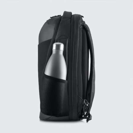 Cestovní batoh Oxna černá barva boční kapsa na pití