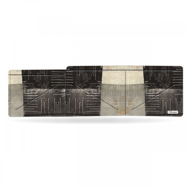 Papírová peněženka Odstíny šedi otevřená a prázdná