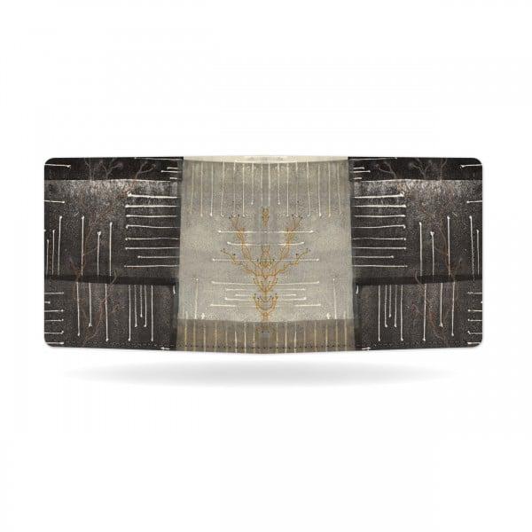 Papírová peněženka Odstíny šedi zezadu