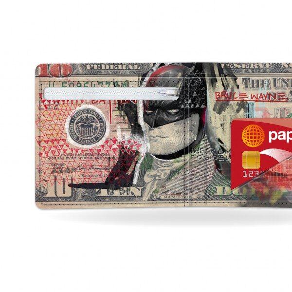 Papírová peněženka Temný rytíř detail