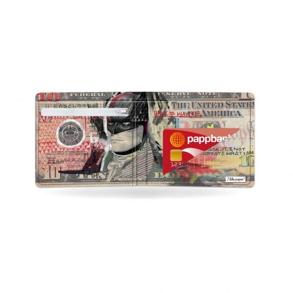 Papírová peněženka Temný rytíř uvnitř