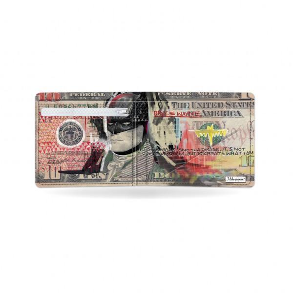 Papírová peněženka Temný rytíř otevřená