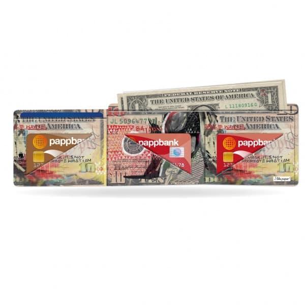 Papírová peněženka Temný rytíř na karty a bankovky