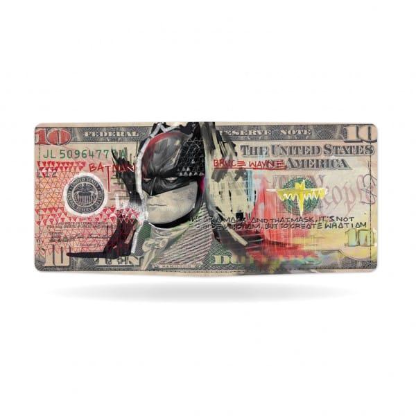 Papírová peněženka Temný rytíř zezadu