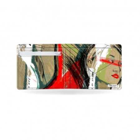 Papírová peněženka Moment otevřená a prázdná