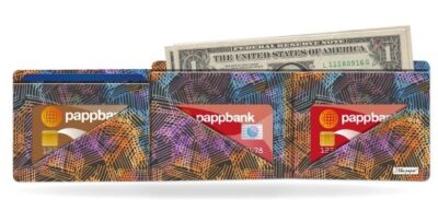 Papírová peněženka Půlnoční kresba