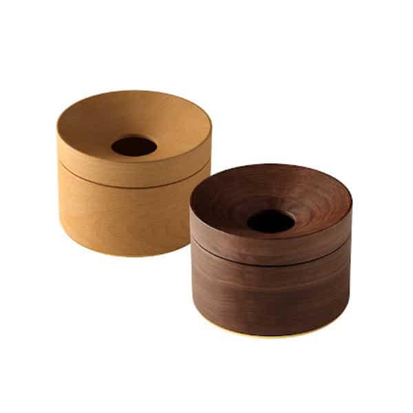 dřevěná designová kasiška na mince