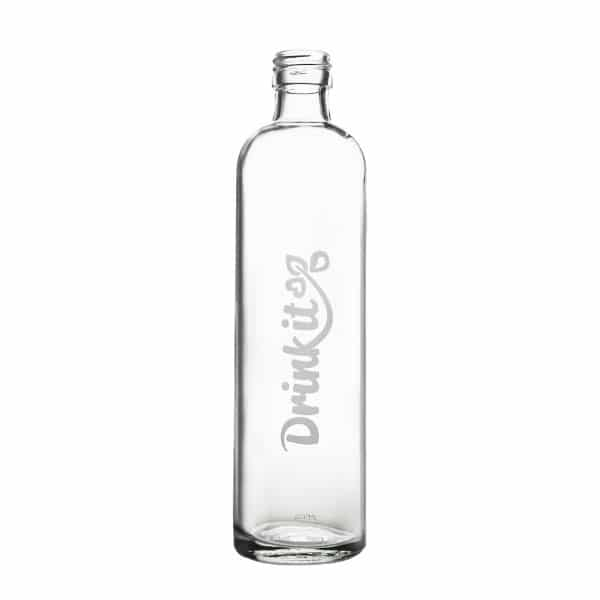 Skleněná láhev na pití 300 ml pískované logo