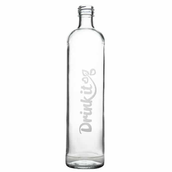 Skleněná láhev na pití 500 ml pískované logo
