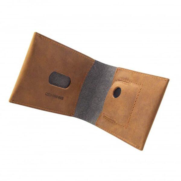 kvalitní kožená peněženka hnědá