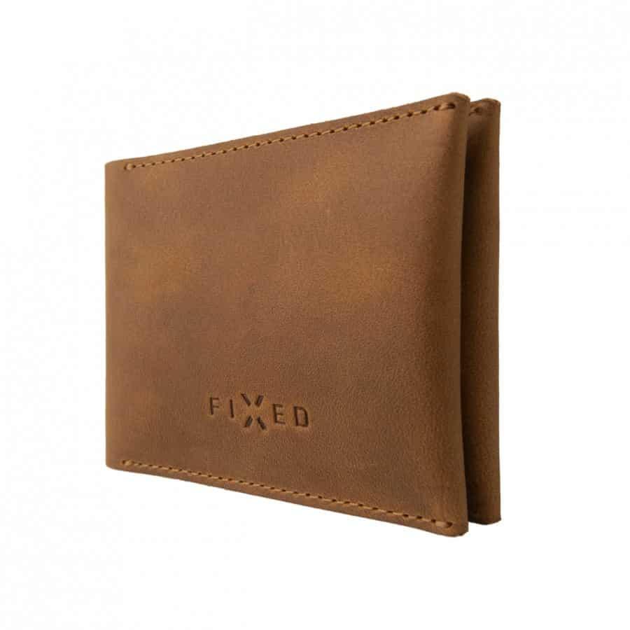 chytrá kožená peněženka hnědá