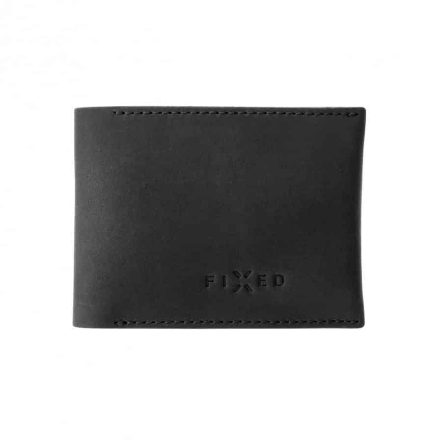 černá chytrá kožená peněženka