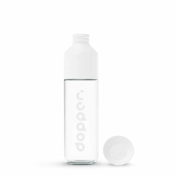 Láhve na pití Dopper skleněná bílá