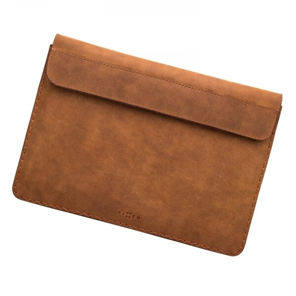 hnědé kožené pouzdro ipad Fixed na ipad a macbook