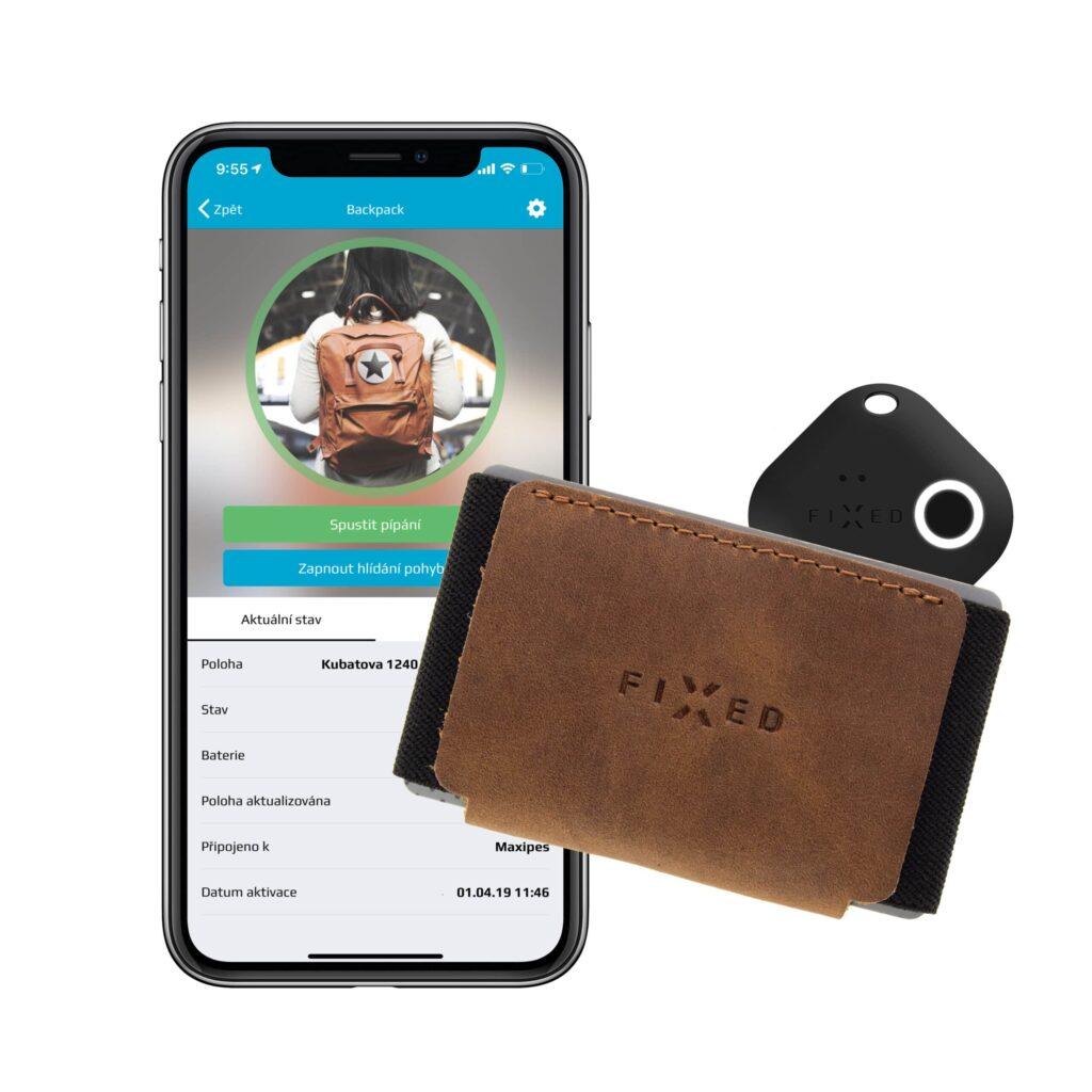 Chytrá kožená slim peněženka Fixed Smile Tiny