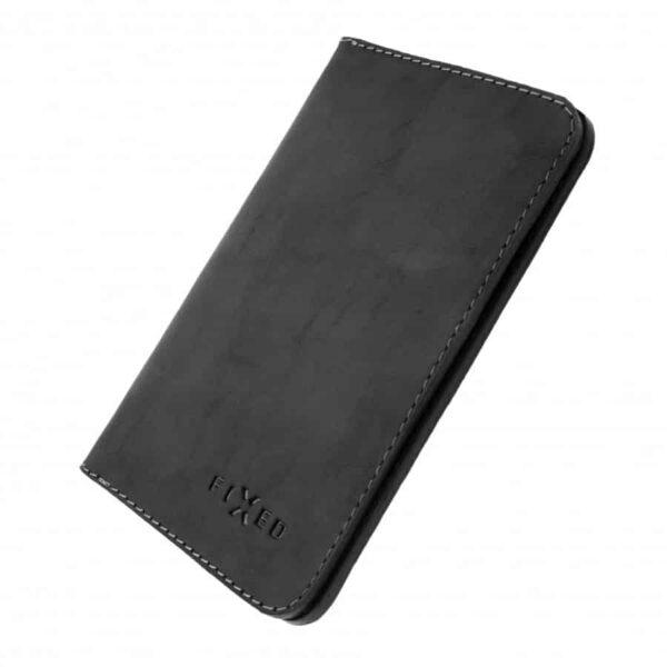 černá Chytrá kožená peněženka Fixed Smile Wallet XL