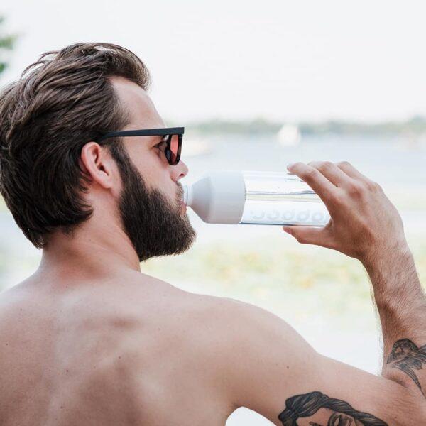 Skleněná termoska Dopper na studené nápoje