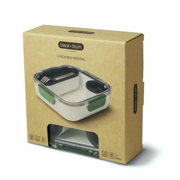 Těsnící obědový box Black+Blum Original zelená ekologické balení