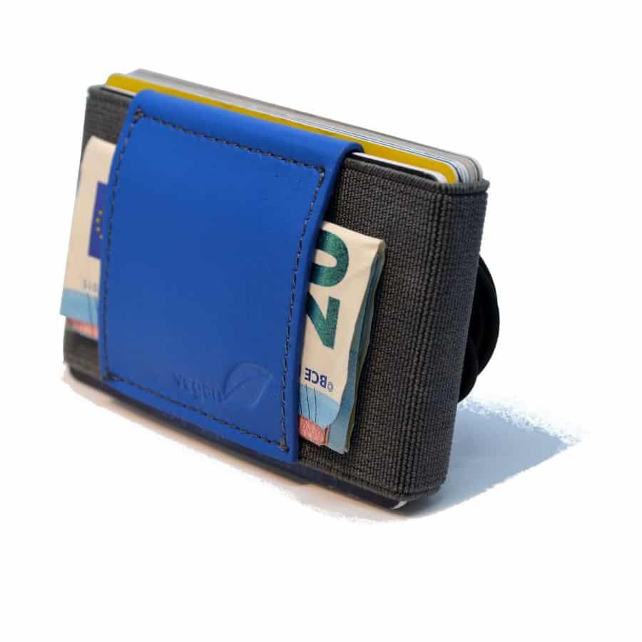 Slim peněženka pánská modrá na karty a hotovost