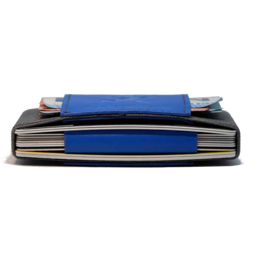 Slim peněženka modrá na karty a hotovost