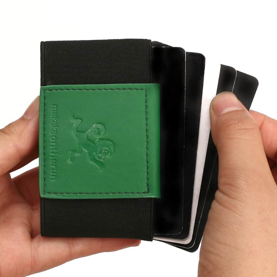 Slim peněženka zelená na karty