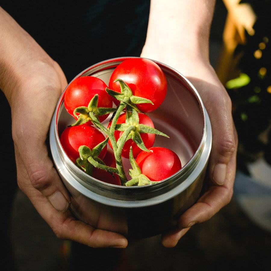 Těsnící plechovky s víčkem na zeleninu