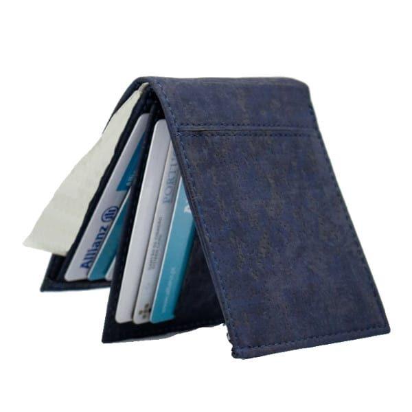 Korková peněženka Barok modrá