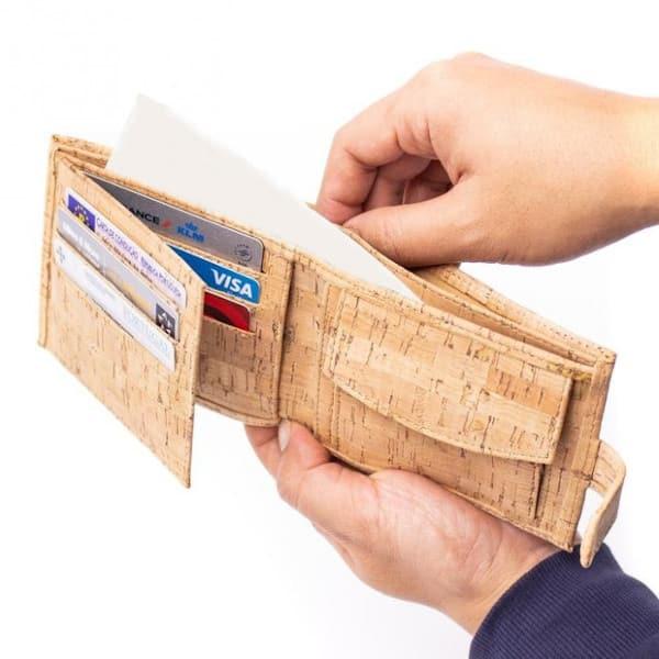 prostorná Korková peněženka Zorita