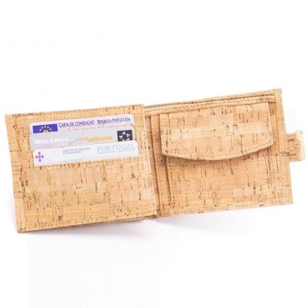 Korková peněženka Zorita na doklady a bankovky