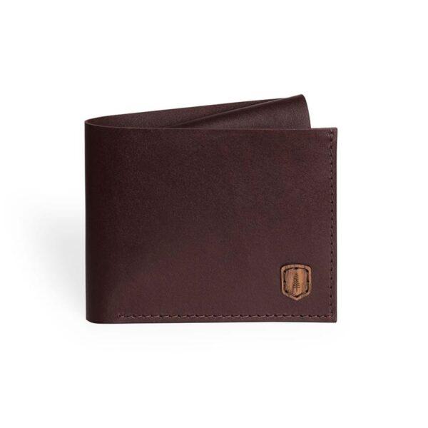 Kožená peněženka Coins Bewooden hnědá