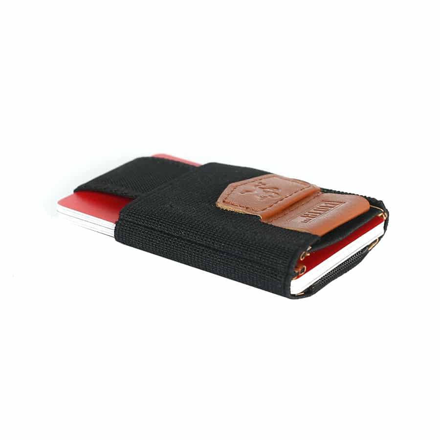 Vysouvací peněženka pull tab hnědo černá