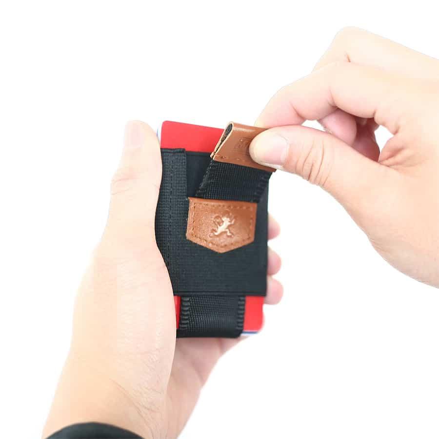 hnědá pull tab vysouvací peněženka